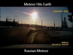 Russian Meteor: Spectacular Dash Cam Video 2/15/13  Windows broken, car alarms went off, around 500 people needed medical attention (mostly from broken glass?)