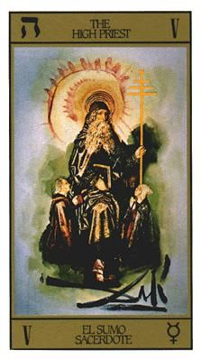 View the The Hierophant in the Salvador Dali deck on Tarot.com
