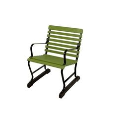 $183 Ivy Terrace 22 in. Black and Lime Patio Arm Chair - IVB24FBLLI - The Home Depot