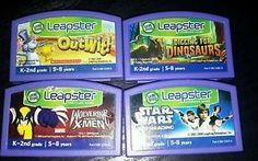 Leapster-Leap-Frog-Games-K-2nd-Outwit-Star-Wars-Wolverine-Dinosaurs-Lot-4