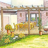 Eine Terrasse neu inszeniert