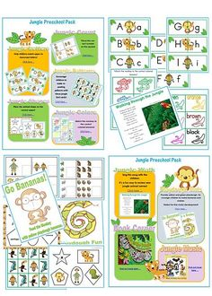jungle preschool pack Weeks in History (Mesoamerica) - use with toddlers to all on a similar page. Preschool Jungle, Jungle Crafts, Preschool Themes, Preschool Activities, Childhood Education, Kids Education, Birch Tree Wall Decal, Rumble In The Jungle, Rainforest Theme