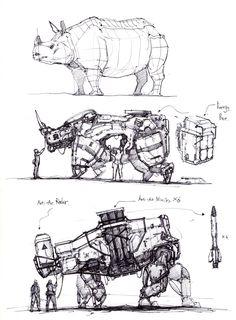 ArtStation - animal robotic machine, longque Chen - - piercings home Arte Robot, Robot Art, Animal Robot, Robot Sketch, Robots Drawing, Industrial Design Sketch, Robot Concept Art, Robot Design, Illustration