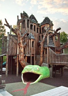 "Come ""swing like a gibbon"" at Jungle Gym, a 35-foot-tall tree house, cargo-net climbing area, slide, and giant snake tunnel at the Nashville Zoo."