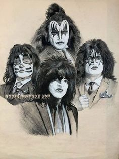 Chris Hoffman Art, Limited Edition prints and commission work at your request Rock Music Artists, 80s Heavy Metal, Relationship Tattoos, Kiss Art, Band Wallpapers, Music Drawings, Hot Band, Rockn Roll, Rock Posters