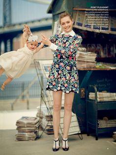 Sasha Pivovarova by Boo George for Vogue August 2013