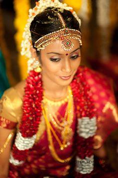 Tamil Brahmin bride from Tamil Nadu, South India