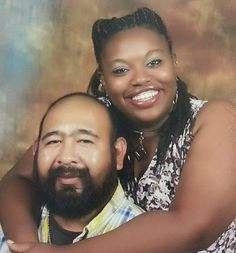Mexican and Black Couples, Black and Hispanics Relationships, and Black and Latino Relationships : Black woman married to a Mexican: Jennifer and George Puente