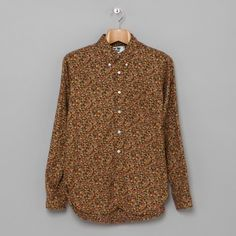 Engineered Garments 19th Century BD Shirt in Brown Floral Print