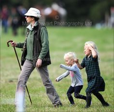 markstewartphotography:  The Princess Royal and grandchildren Isla and Savannah Phillips attended the Whatley Manor International Horse Trials, Gatcombe Park, and watched Zara Phillips compete, September 11, 2015