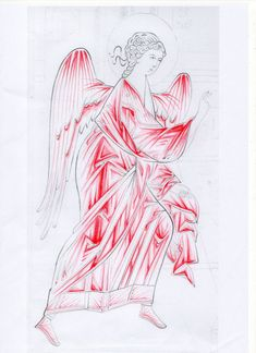Byzantine Icons, Byzantine Art, Religious Icons, Religious Art, Painting Process, Painting & Drawing, Medieval Paintings, Cartoon Sketches, Art Icon