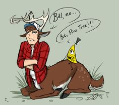 I don't normally pin Monster Falls, but Bill and Dipper are too cute!