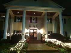 Ole Miss Theta House at Christmas; had to
