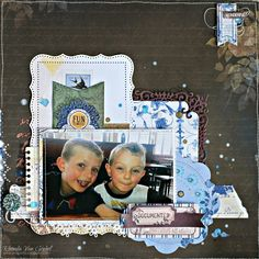 Fun Times Scrapbook Page by Rhonda Van Ginkel for BoBunny Featuring Rose Cafe Collection. #BoBunny @snapwhiz
