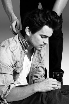 Matthew Bomer and his hair. I so wanna tug that.