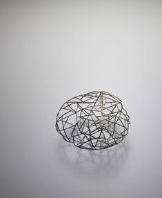 """Trace"" by Wan Hee Cho. Sterling Silver, Gold Leaf 23k."