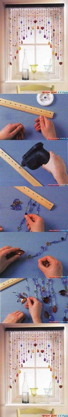 DIY  : Cute Blinds Curtain