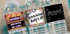 Hollywood Water Bottle Labels