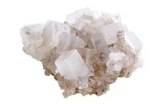 Salt crystals, also known as halite crystals, are translucent and display a cubic structure. They are easy to grow yourself!