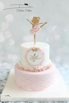 Rige Best Picture For Cake Design for boyfriend For Your Taste You are looking for something, and it is going to tell you exactly what you are looking for, and you didn't find that picture. Ballet Birthday Cakes, Ballet Cakes, Ballerina Birthday Parties, Ballerina Cakes, Baby Birthday Cakes, Birthday Ideas, Bolo Minion, Baby Girl Cakes, Party Cakes