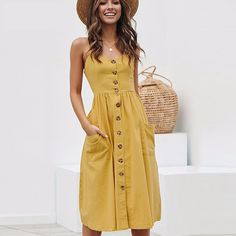 Product Name BEFORW Women Summer Dress 2019 Sexy Straps Bohemian Floral Tunic Beach Dress Sundress Pocket Red Dresses Female Product Categor. Sexy Summer Dresses, Beach Dresses, Sexy Dresses, Casual Dresses, Fashion Dresses, Dress Beach, Vacation Dresses, Dress Summer, Spring Dresses