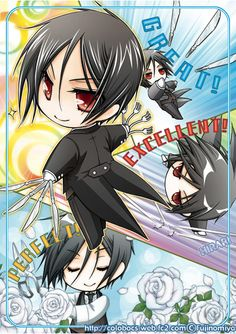 """How can Sebastian stay sexy as a chibi?!?! It defies logic!!! """"I'm simply one hell of a butler."""""""