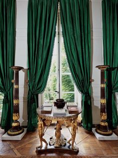 Green drapes /Givenchy at Christie's