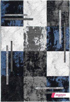 Moderner Wohnzimmerteppich Blau 923 1 Myneshome.de