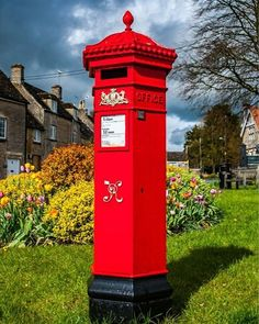 royalmailofficial Verified Striking red Victorian Penfold at the heart of 📮 - 📸 by - Post Box, Royal Mail, Britain, Victorian, Telephone, Heart, Scotland, Red, Boxes