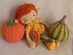 Купить Тыквенный эльф - эльф, тыква, Хэллоуин, halloween, кукла в подарок, игрушка, бубенчики, фея