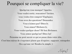 AH ben zut, c'est si simple en fait ! Words Quotes, Wise Words, Life Quotes, Sayings, French Words, French Quotes, Positive Mind, Positive Attitude, Quote Citation