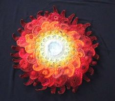 Free form crochet by 'Barb' for the free form section of a show in Brisbane, Australia. Crochet Motifs, Freeform Crochet, Crochet Art, Crochet Squares, Love Crochet, Irish Crochet, Crochet Flowers, Crochet Stitches, Crochet Patterns