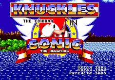 Knuckles the Echidna in Sonic the Hedgehog