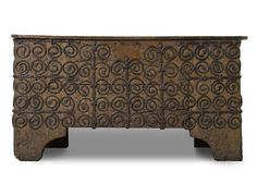 13th century French oak chest