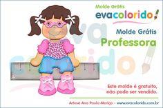 Molde Grátis – Professora | EVA Colorido
