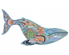 Blue Whale Rubber Stamp