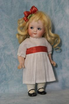 Whimsical-7-Antique-Gebruder-Heubach-9573-Googly-German-Bisque-Doll-Sleep-Eyes