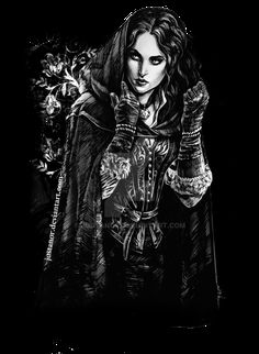 Yennefer (t-shirt print) by JustAnoR on DeviantArt