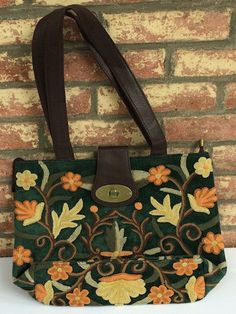Forest Green Buckle Bag