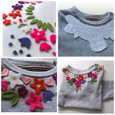 DIY t-shirt with flowers | Crafts Tutorials Blog - Ideas For Crafts
