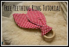 This simple yet beautiful teething ring provides 3 different textures for your baby to experience, the wooden ring is perfect for sore little gums, while the fabric ears provide something soft to chew on, are easy to grip and have the added bonus of mopping up all that dribble! The fabric can easily be removed and washed. It is simple and quick to make and would be a perfect baby shower gift. Team it with a coordinating feeding bib or burp cloth set for a beautiful gift. You will need...