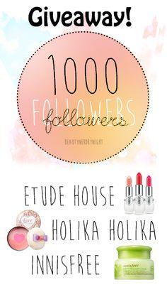 Asian International Beauty Giveaway, Etude House, Holika Holika, Innisfree (ww and ends 11/20)