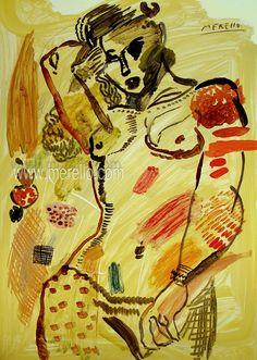 "EL SEXO SENTIDO.  Jose Manuel Merello.- ""Yellow nude.""  ART MODERNE. http://www.merello.com"