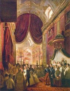 Imagem do que teria sido o casamento da Princesa Isabel (do Brasil).