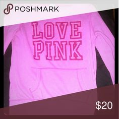 Pink Sweater Pink Sweater size small. $20 or trade. PINK Sweaters Crew & Scoop Necks