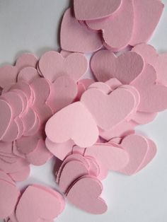 Love Heart Confetti/200 Heart Die Cuts/Table Decor/ Scrapbooking #Pink #Wedding #PinkWedding #Paper