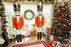Nutcracker Crafts, Nutcracker Christmas Decorations, Outdoor Christmas Decorations, Christmas Ornaments, Christmas Wreaths, Home And Family Crafts, Home And Family Hallmark, Christmas Yard, Christmas Projects