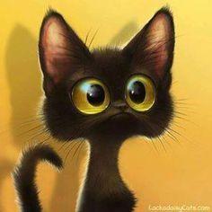 Illustration - Un Chat noir aux yeux d'or