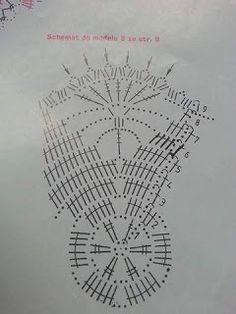 bajkopisarka - Her Crochet Crochet Christmas Ornaments, Crochet Snowflakes, Christmas Bells, Christmas Angels, Christmas Crafts, Christmas Star, Crochet Motifs, Crochet Blocks, Crochet Chart