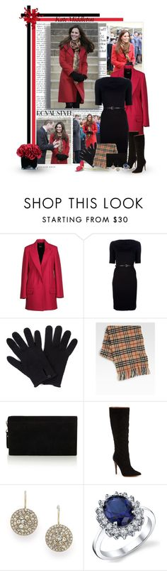 """""""Kate Middleton"""" by signaturenails-dstanley ❤ liked on Polyvore featuring Giorgio Armani, D&G, Emporio Armani Jeans, Jigsaw, Burberry, Karen Millen, Sigerson Morrison, FOSSIL and Hervé Gambs"""
